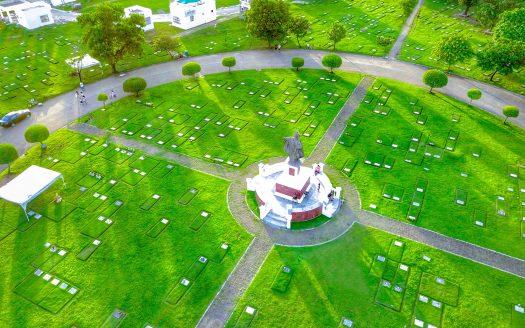 Aerial View of Golden Haven Memorial Park Las Pinas