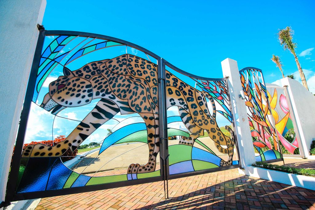 Bulacan Gate engraved by Elements of Amazon Rainforest
