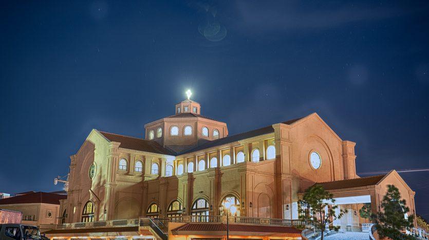 San Ezekiel Church at Night