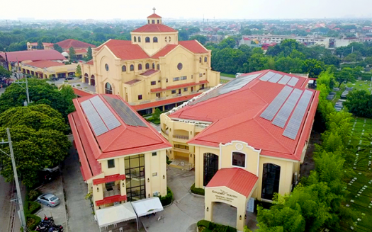Solar Panels installed in Golden Haven Chapels Las Pinas