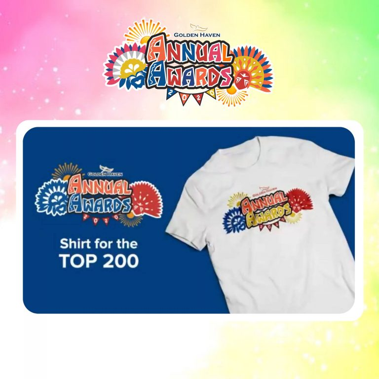 Exclusive shirts for the top 200 sales agents