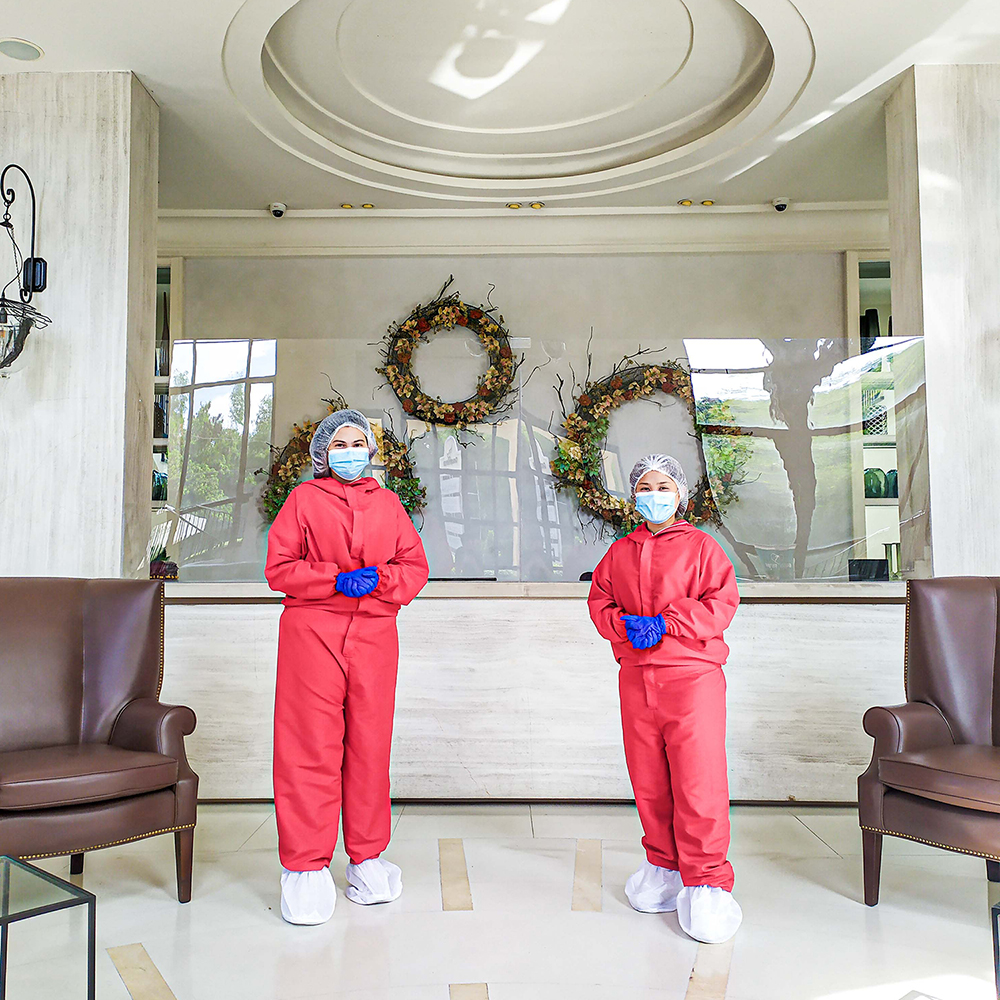 Family Care Associates wearing PPEs and masks