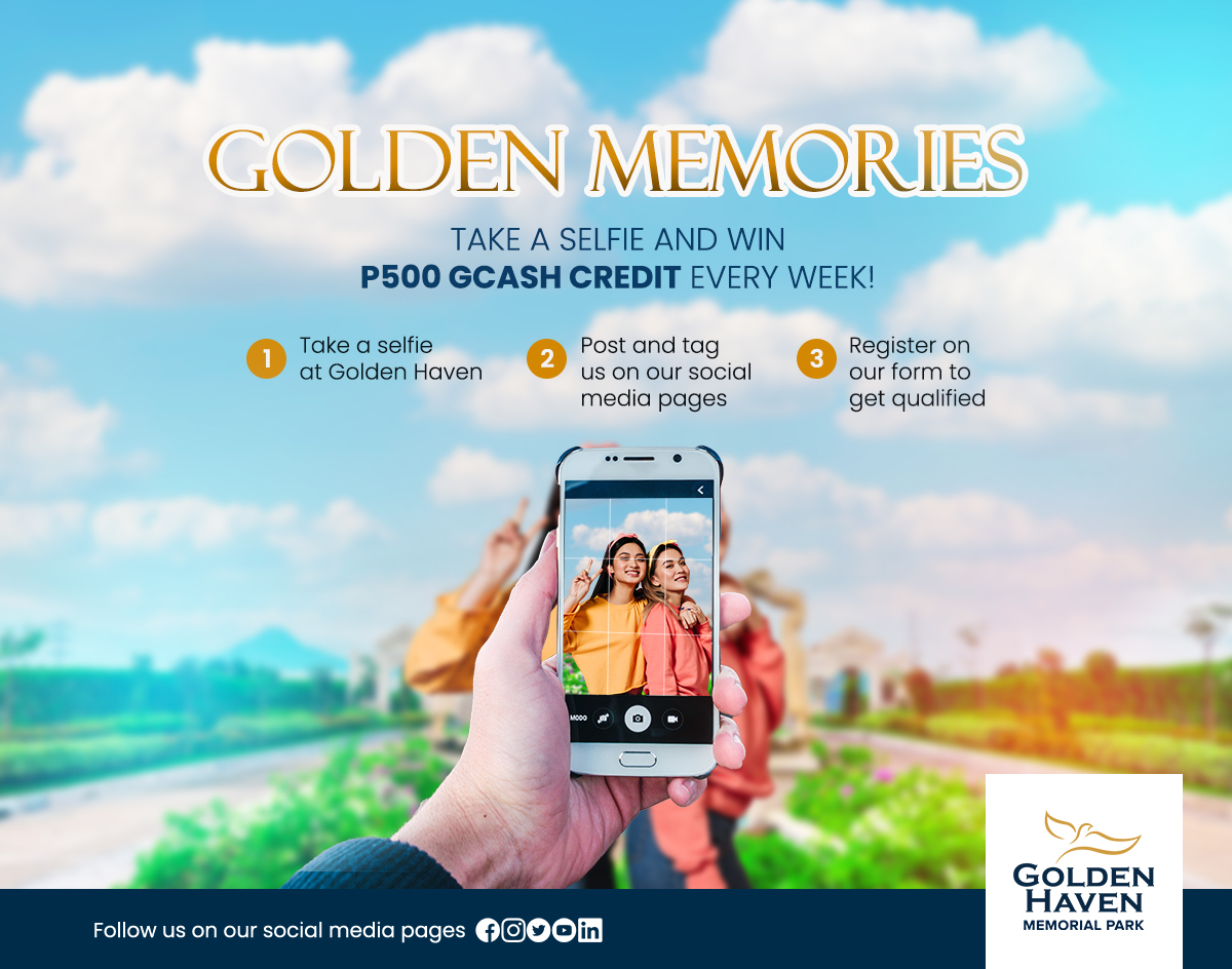Golden Memories Event Digital Poster