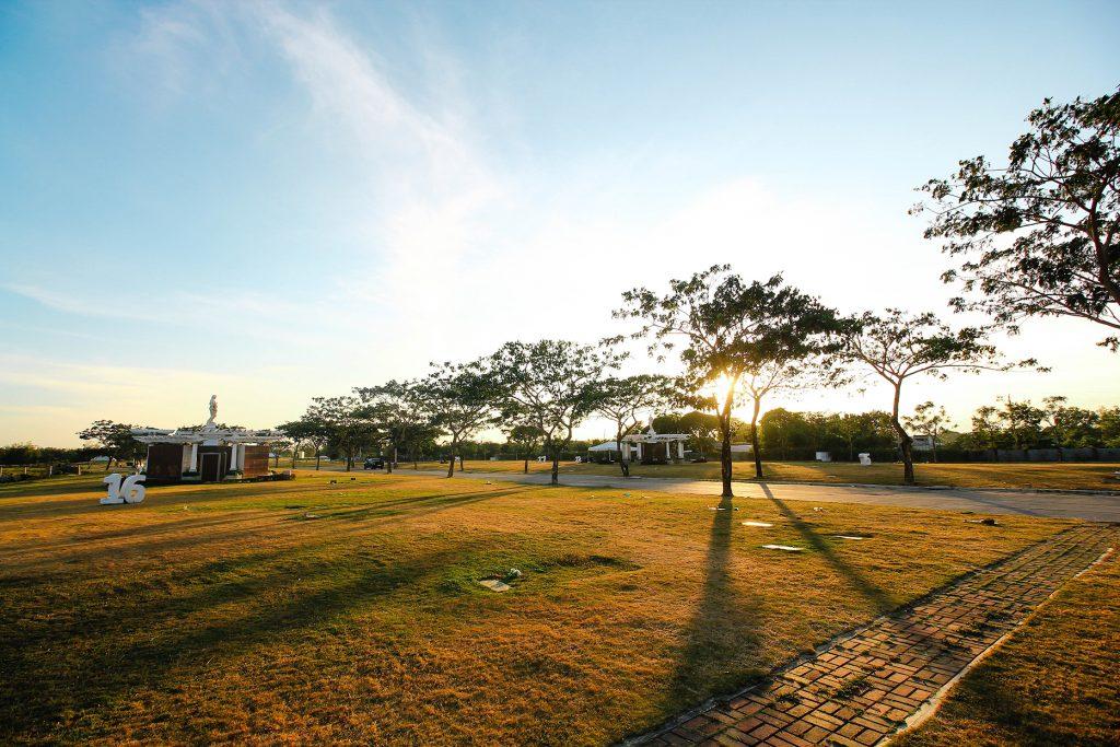 Sunset feels inside Golden Haven Memorial Park in Iloilo.