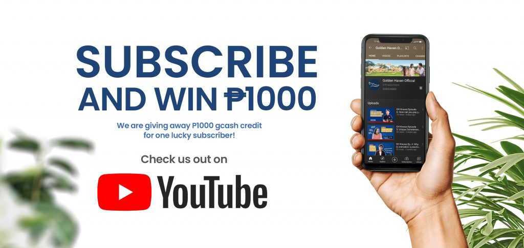 Subscribe and win P100 GCash Credit