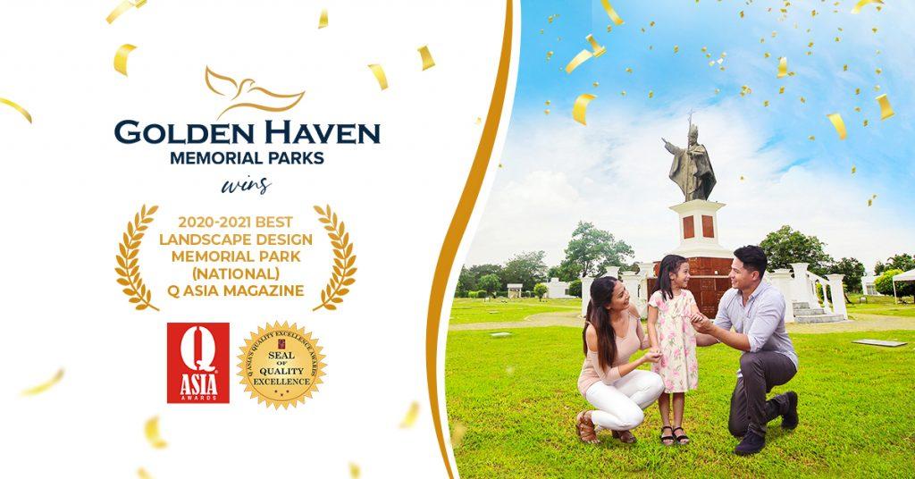 Golden Haven Memorial Parks Best Design Landscape 2020-2021 QAsia Awards